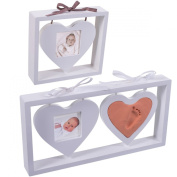 Baby Hand Print and Foot Print Plaster Cast Kit & Photo frame in Heart Design