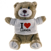 Classic Soft Toy Bear I Love Luanda beige