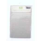 Fancy Classic Collection White 100% Cotton Baby Cellular Blanket by R Kids