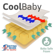 Little Mattress Company® - CoolBaby Castellated Cot Bed Mattress - 120cm x 60cm x 10cm - Including FREE Luxurious Soft CoolMax® Cover