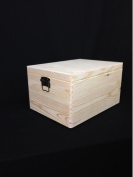 PLAIN WOODEN CHEST CHRISTMAS XMAS EVE BOX DIY BOX/ TOY BOX/ STORAGE CHEST TRUNK/ UNPAINTED WOODEN TRUNK 39.5x 30x 24cm