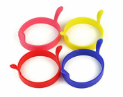 .4pcs Kitchen Cooking Silicone Fried Oven Poacher Pancake Egg Poach Ring Mould