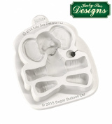 Baby Elephant Silicone Mould Katy Sue Designs Sugar Buttons for Clay, Cake Decorating and Sugarcraft
