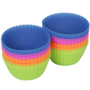 Tenn Well Silicone Cupcake Cases - Reusable Silicone Muffin Cases 12pcs