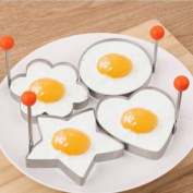 4x Stainless Steel Cooking Fried Egg Pancake Ring Mould Mould Shaper Kitchen Tool