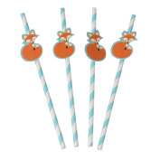 Pack Of 4 Rusty The Fox Party Drinking Straws
