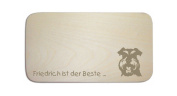 """Breakfast Board with German Text """"Moustache"""" includes persons Engraving Board Breakfast Board Dog Sign"""