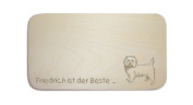 """Breakfast Board with German Text """"WEST HIGHLAND WHITE TERRIER"""" includes persons Engraving Board Breakfast Board Dog Sign Westi"""