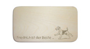 """Breakfast Board with German Text """"AIREDALE Terrier-Includes Engraving people Board Breakfast Board Dog Sign"""