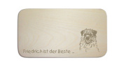 """Breakfast Board with German Text """"BORDER TERRIER"""" includes persons Engraving Board Breakfast Board Dog Sign"""