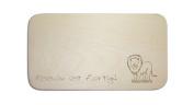 "Breakfast Board with German Text ""Cute Lion» including people Engraving Board Breakfast Board Sign"