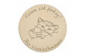 "Breakfast Board for Children's ""Cat"" includes persons Engraving Board Sign Children's Breakfast Tray"