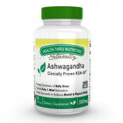 Health Thru Nutrition Ashwagandha 500mg Pure Ksm­66 (Clinically Proven And Organic Root-Only Ashwagandha) 90 Vegecaps