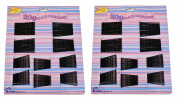 400 x TRIPPLE WAVE BLACK HAIR GRIPS/BOBBY PINS - assortment of 5cm & 6cm.