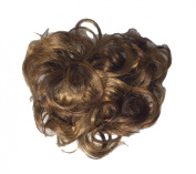 New Style Hair Extensions Curly Messy Drawstring Updo Full Bun In Our Famous Brown Blonde Mix