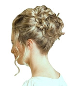 New Style Hair Extensions Curly Or Messy Drawstring Updo Full Bun Add Body Honey Blonde