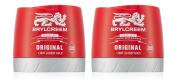 2x Brylcreem ORIGINAL LIGHT GLOSSY HOLD Mens Hair Styling Cream RED TUB 150ml