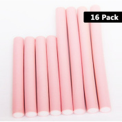 Pack of 16 Bendy hair Rollers - Can Be Used On Wet & Dry Hair Both