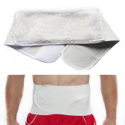 BXT Medical Grade Unisex Abdominal Support Belt Merino Wool Thermal Warming Healing Pain Waist Brace Stomach Waist Back Support Binder for Waistine 70cm - 100cm
