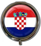 "Pillbox in a round shape ""Flag Croatia"""