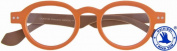 "I NEED YOU Reading Glasses 1.0 Diop. Model ""DOKTOR3"" Reading Aid orange / Brown"