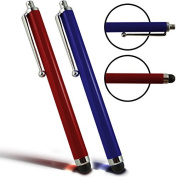 Digi Pig - Pair of Red and Blue Capacitive Stylus Touch Screen Pens for the Amazon Fire HD 8