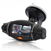 STOGA Car DVR Camera EK-037 6.9cm rotatable Screen Car DVR Dual Camera with GPS Logger and GPS Sensor Night Vision