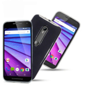 Clear Gel Skin Cover Case (Flexible and Durable) for the Motorola Moto G (3rd Gen) by Digi Pig