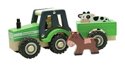 New Classic Toys Tractor with trailer and play figures