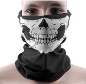 DAYAN Black Seamless Skull Face Tube Mask BUFF