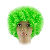 New Green Curly Afro Clown Wig Fancy Dress Costume Accessory St Patricks Day Irish Ireland Cosplay Halloween Anime Short . Ladies Mens Boys Girls Synthetic Funky 60s Disco Party Wigs