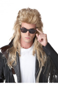 80's Rock Mullet Adult Costume Wig