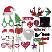 27pc Christmas Photo Booth Props