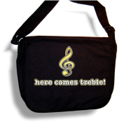Music Notation Here Comes Treble - Sheet Music Accessory Bag MusicaliTee