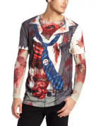 Faux Real Tees Men's Long Zombie with Mesh Sleeves