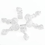 Skyllc® 6 X Silver Plated Spacer Beads Fit European charm 6mm CHIC