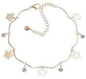 PRESKIN - Beautiful gold plated Charms Bracelet with crystals, 18K