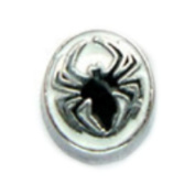 Spiderman Symbol black - 7mm floating charm fits Living memory and Origami Owl style lockets