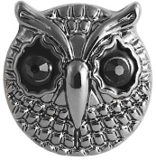 """Cham Cham Chunk Chunks Button Click-System Removable Jewellery """" Owl"""""""