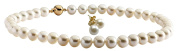 Anderson & Webb White Round Pearl Necklace And White Pearl Stud Earrings Set