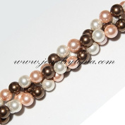 AAA 8mm Multicolour South Sea Shell Pearl Necklace + Free Pearl Stud Earrings
