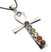 Chakra Ankh Cross Pendant