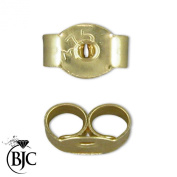 BJC® Pair of 9ct Yellow Gold Stamped Earring Backs Scrolls Butterfly Stud Post Backs 5mm