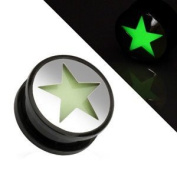8mm Glow In The Dark Star Plug Tunnel Available from 6.5mm - 25mm In our Pegasus Body Jewellery Amazon Shop