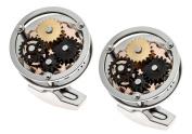 Thomas Earnshaw Silver Gear Cufflinks