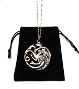 3 Headed Dragon Pendant Necklace Targaryen Sigil Silver Game of Thrones