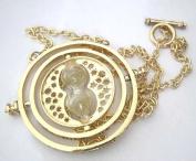 Harry Potter Falcao Horcrux Time Turner Spinning Gold Necklace in Gift Bag