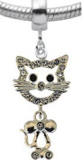 Lovely Charm with Cat design by BodyTrend- available in lobster clasp