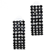 Black diamante crystal CLIP ON sparkly earrings proms parties