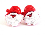 CUTE CLIP ON FIXING FATHER CHRISTMAS EARRINGS